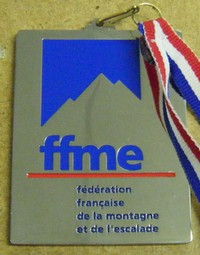 Vice-champion de France de raquette à neige (FFME)