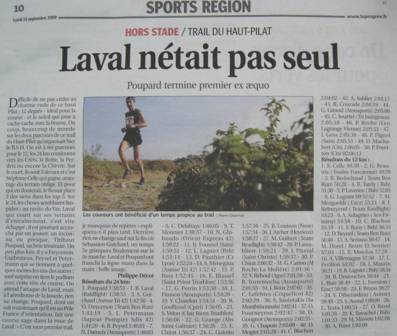 Trail du Bessat, (co-)victoire à domicile…