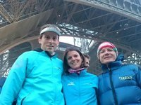 Tour Eiffel Vertical Race, en 10mn50s J. 279m de D+, 1600 marches…