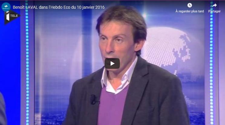 Benoit LAVAL et Raidlight sur iTELE –  L'Hebdo de l'éco du 10/01/2016