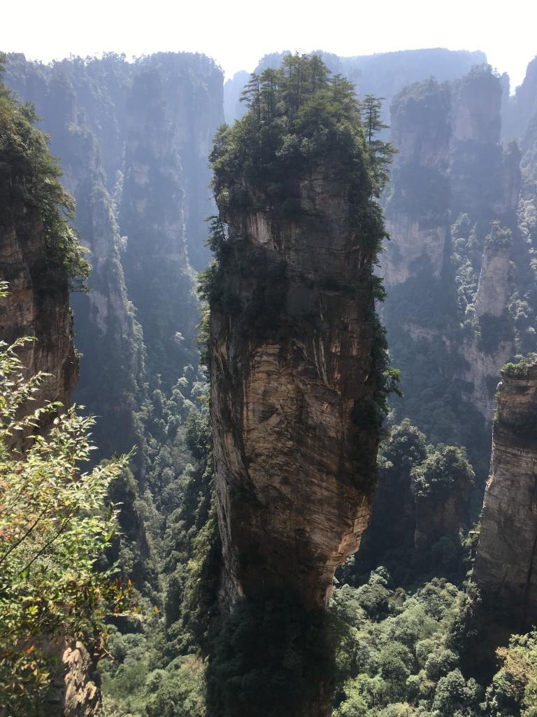 Trail à Zhangjiajie, 1er parc National de Chine, les paysages qui ont inspiré le film Avatar…