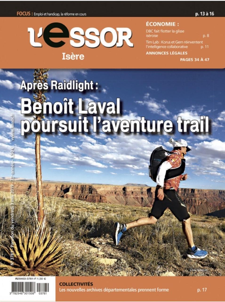 Benoît Laval poursuit l'aventure Trail – Portrait dans l'Essor Isère
