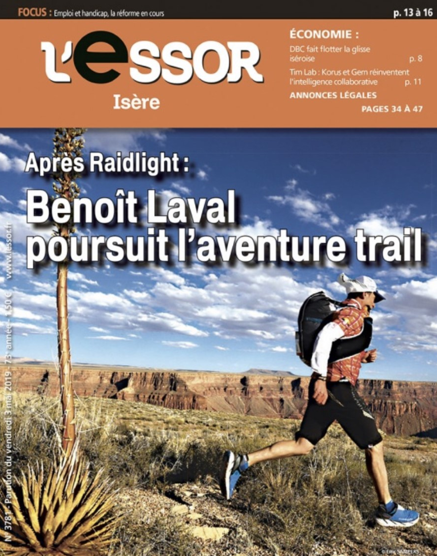 Benoît Laval continues the adventure in Trail running – Portrait in magazine Essor Isère